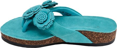 Turquoise Women's Leather Wellrox Wellrox Blossom Women's wqHOR8n4