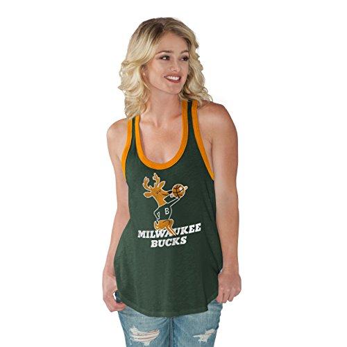 NBA Milwaukee Bucks Women's Power Play Color Block Tank Top, X-Large, Green