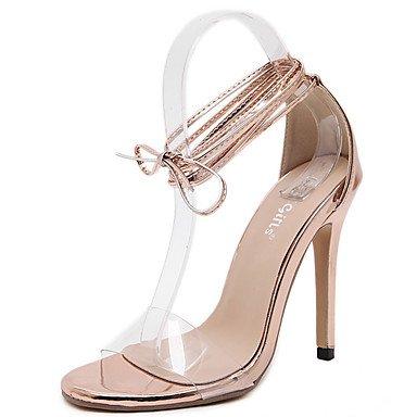 RTRY Sandalias Mujer Club Verano Vestidos Zapatos Pu Stiletto Talón Lace-Up Champagne Us8 / Ue39 / Uk6 / Cn39 US5.5 / EU36 / UK3.5 / CN35