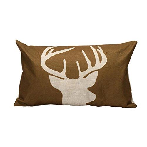 12 Days Of Christmas Costumes (Gotd Christmas 12x20 Pillow Covers Long Shape Deer Car Sofa Waist Pillowcase Decorations Decor Art Square Cotton Linen Pillowcase Xmas Cushion Cover Pillow Case Throw Pillow Cushion Cover (A))