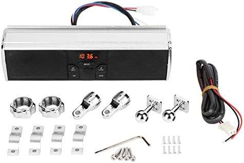 Haut-parleurs audio avec guidon de moto Bluetooth Support de barre de son /étanche Carte MP3 USB//TF noir