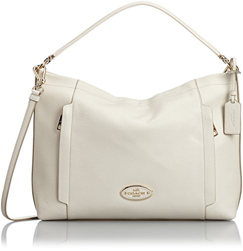 Coach Scout Hobo in Pebble Leather 34312 Chalk (Coach Handbags Scout Hobo)