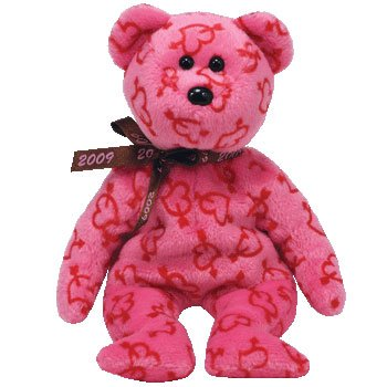 TY Beanie Baby - HEARTLEY the Valentine's Bear (Hallmark, used for sale  Delivered anywhere in USA