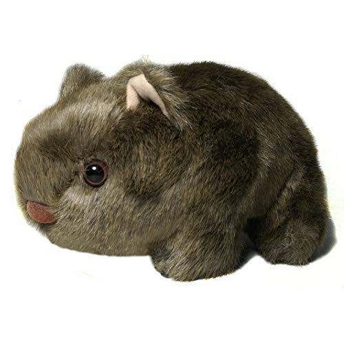 Australian Down Under Pillows Realistic Wombat Stuffed Animal Plush Toy Lifelike for kids Chilren(8.4 inch)