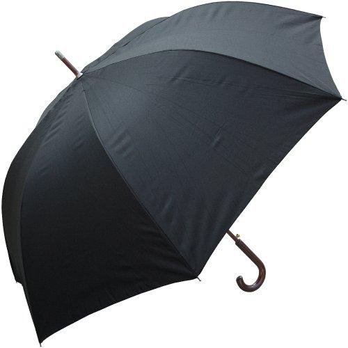 """Unisex Adult Black 60"""" Auto Open Hook Handle Doorman Umbrella"""