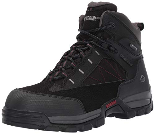Wolverine Men's Amphibian Carbon Fiber Safety Toe Boot,Black,12 M - Wolverine Boots Gore Tex