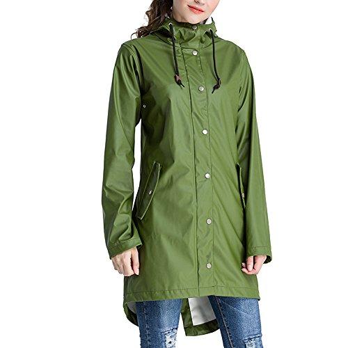 Green Womens Raincoat - 9