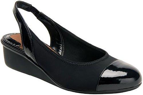 (Ros Hommerson Women's Emma Wedge Sandals,Black,7 M)
