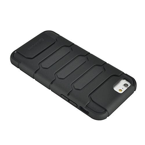 iPhone 6Fall, luvvitt Armor Shell iPhone 6Fall/11,9cm Bildschirm iPhone Air Armor Fall   Double Layer, Cover–schwarz/schwarz
