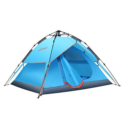 悲劇的な常習的例外SMEOO テント 気圧式自動テント 簡単設置 超軽量 多機能 シンプル UV保護 広いスペース 3~4人 涼しい 日よけ 防水 シンプル 200 * 180 * 130 cm BBQ バーベキュー 遠足 家族旅行 アウトドア