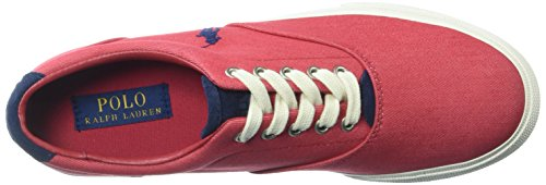 Polo Ralph Lauren Mens Sneaker Denim Color Velluto Rosso