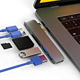 CharJenPro MacStick USB C Hub for MacBook Air 2018-2019, MacBook Pro 2016-2019, 100W Power Delivery, 40Gbps Thunderbolt 3 5K@60Hz, 2 USB 3.0, Micro SD and SD Card Reader, USB C Port