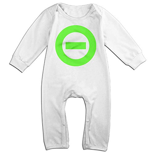 [NCACA Newborn Babys Boy's & Girl's Type O Logo Negative Long Sleeve Bodysuit Baby Onesie For 6-24 Months White Size 12] (Baby Golfer Costume)