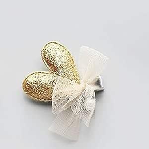 Baby hair ornaments heart -shaped hair clip hairpin