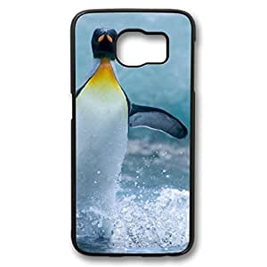 iCustomonline Penguin in the Water Beautiful Case Fits for Samsung Galaxy S6 PC Black Cover Back