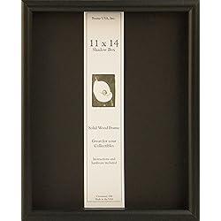 11x14 Shadow Box Wood Frame 15/16 Deep (Black)
