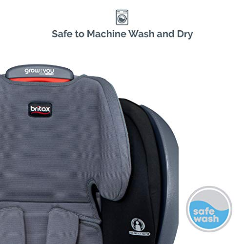 41vQ%2BHn290L - Britax Grow With You ClickTight Plus Harness-2-Booster Car Seat | 3 Layer Impact Protection - 25 To 120 Pounds, Otto Safewash Fabric [New Version Of Pinnacle]