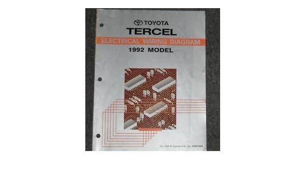 [DIAGRAM_38EU]  1992 Toyota Tercel Electrical Wiring Diagram Troubleshooting Manual EWD  OEM: Toyota: Amazon.com: Books | 1992 Toyota Tercel Wiring Diagram |  | Amazon.com