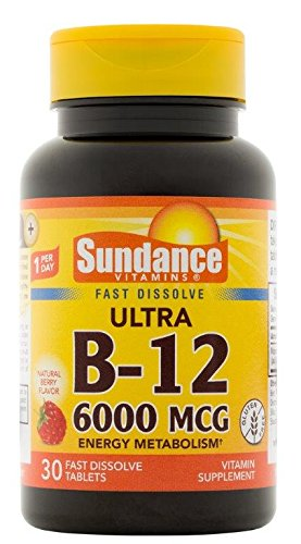 Sundance Vitamin B12 6000 Mcg Tablets  30 Count