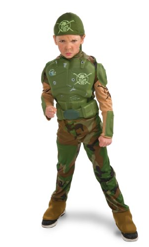 Marine Halloween Costumes Girl (Rubie's Deluxe Combat Marine Costume - Small (3 to 4 Years))