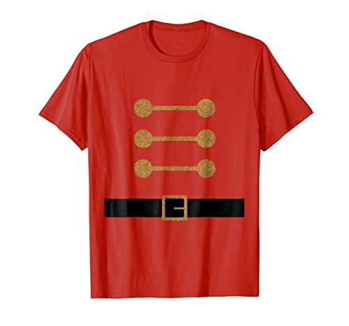 Mens Lovely Christmas Toy Soldier DIY Costume T Shirts Large Red -