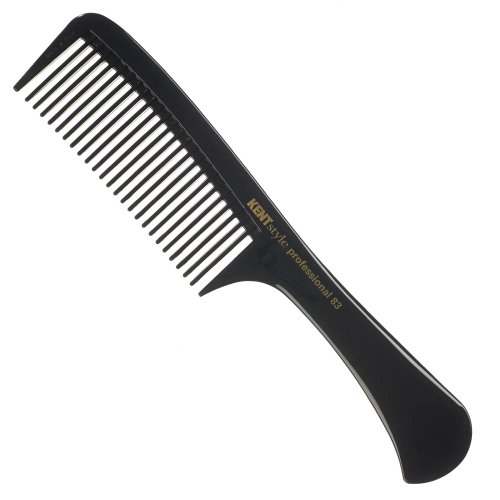 Kent Style Professional Combs (Black) - Hard Rubber, Anti-static, Unbreakable & Heat Resistant - Salon & Barber Quality (SPC83)
