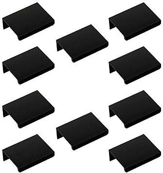 M/öbelgriff Blankett Jane 50 mm schwarz Schrankgriff Hinterschraubgriff Schubladengriff von Sotech