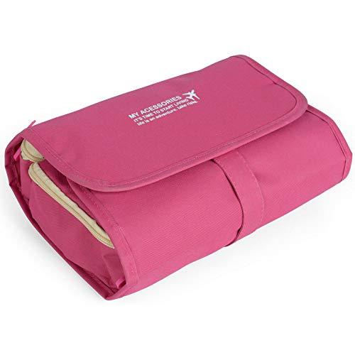 Necessaire De Viagem Dobrável Luxcel Nc14211Pk - Rosa