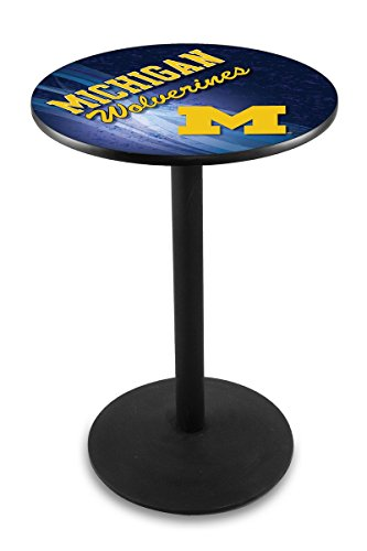 Holland Bar Stool L214B University of Michigan Licensed Pub Table, 28