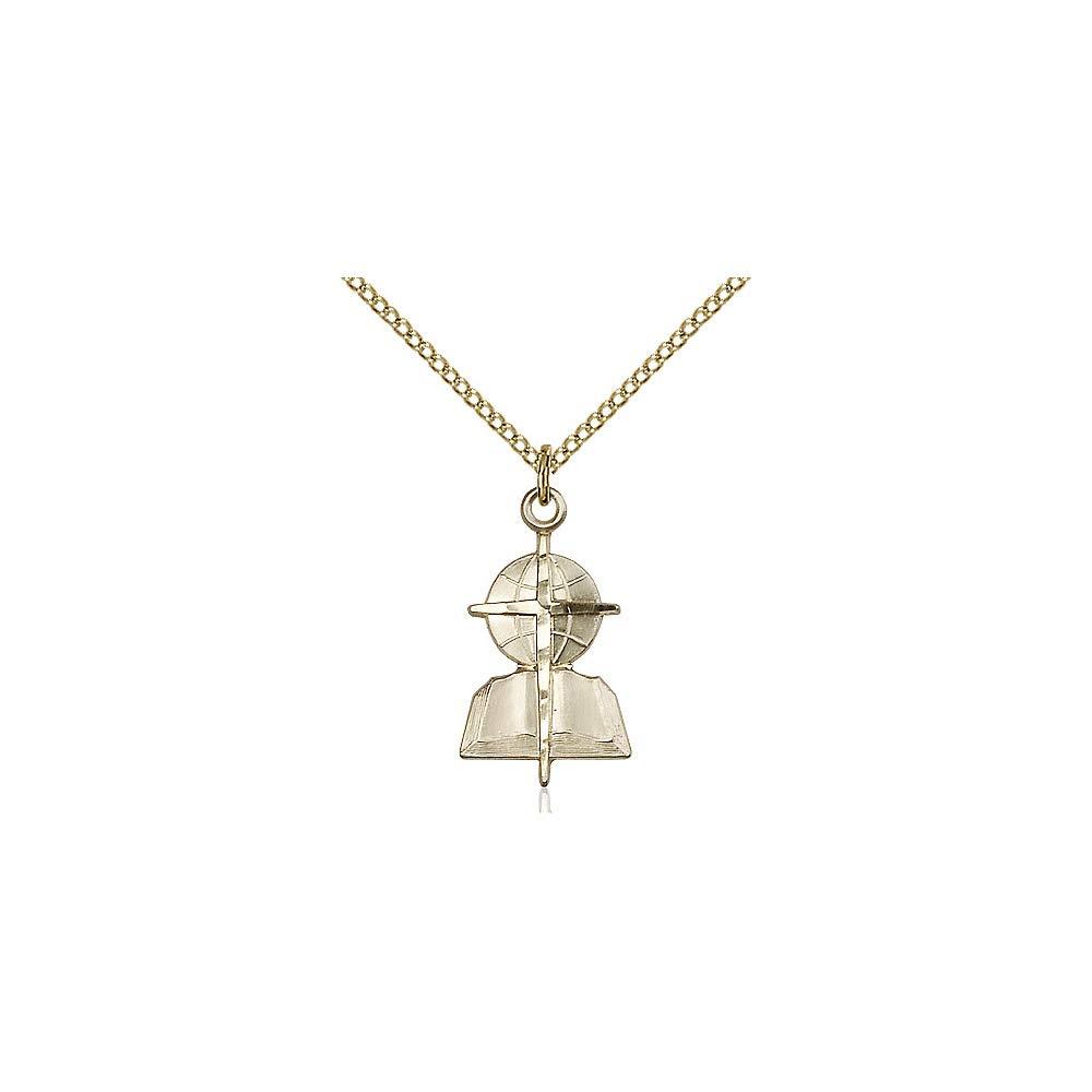 DiamondJewelryNY 14kt Gold Filled Southern Baptist Pendant