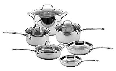 BergHOFF Earthchef Premium Copper-Clad 10-Piece Cookware Set with Glass Lids by Berghoff