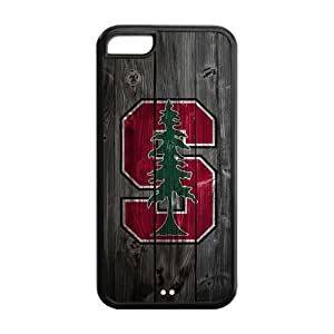 WY-Supplier NCAA iPhone 5 5s case wood ncaa phone case Apple iPhone 5 5s Covers Stanford Cardinal logo TPU hard case