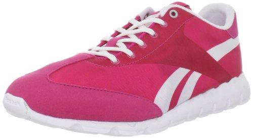 Reebok Femmes Classique Racer Relais Lace-up Mode Sneaker Ouvertement Rose / Blanc / Argent