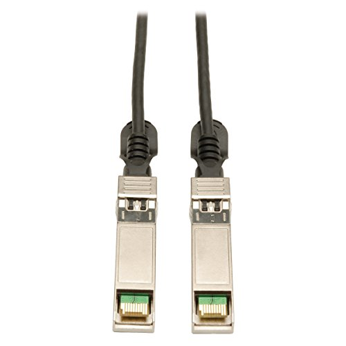 Tripp Lite SFP+ 10Gbase-CU Passive Twinax Copper Cable, Cisco Compatible SFP-H10GB-CU5M, Black 5M (16-ft.) (N280-05M-BK) (Part Tripp Lite)