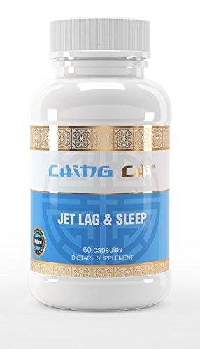Jet Lag & Sleep Aid По Чинг-Чи (Естественные Таблетки, Лучший Гомеопатические помощи, устранения, Профилактика мелатонина, ГАМК, корень валерианы, страстоцвета и более) - 60 капсул