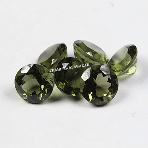 Review Natural Moldavite 4mm Faceted