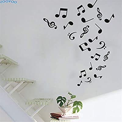 yiyiyaya Notas Musicales Etiqueta de La Pared Arte Vinilos Murales ...
