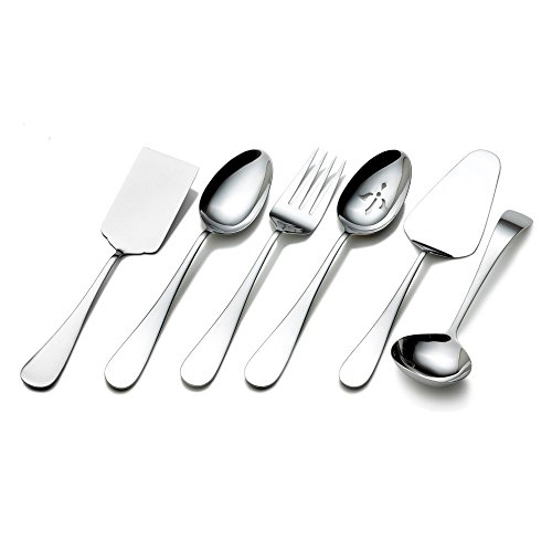 Flatware Serving - Towle Living 5072433 Basic 6-Piece Stainless Steel Hostess Set