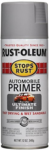 Rust-Oleum 2081830 Stops Rust Automotive Primer Spray Paint, 12 oz, Flat Light Gray