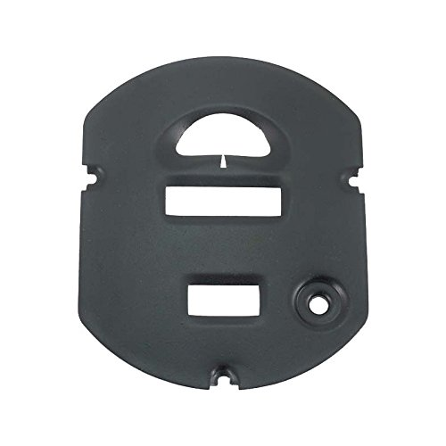 MACs Auto Parts 28-21792 Model A Ford Speedometer Face Plate - Black - For Oval Type Speedometer (Oval Faceplate)