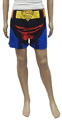 Batman Boxer, Superman Boxer DC Comics Superhero Knit Boxer Shorts (XX-Large, Superman Blue)