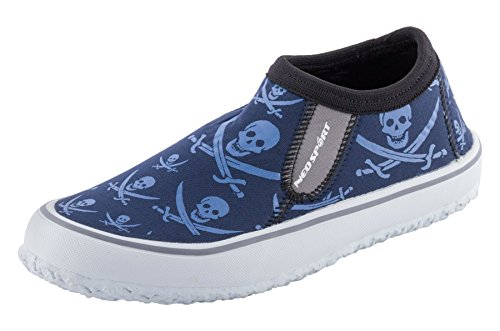 (NeoSport Men's Water & Deck Shoes, Pirate, Size)