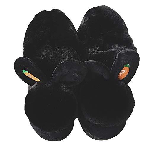 Black Interior Zapatos De Para Con 41 Interior Algodón 40 41 Mujer Suela Piel Bolsa Zapatillas Mes Jia Gruesa Mujer Invierno Lindas Cálido Bolso 40 red Hong qx07gFwg