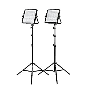 StudioPRO Double  S-600D Ultra High Power Dimmable 600 LED Continuous Photography Light Panel for Photo, Film, & Video Studio Lighting Kit - (Barndoors are Sold Separately)