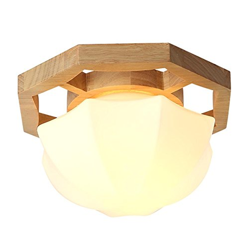 DMMSS Solid Wood Hallway Light Round Ceiling Terrace Lighting Lamp 18W Lde (Light Marble Wall Washer)