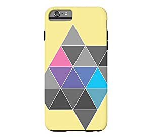 Polygon #3 iPhone 6 Plus Flavescent Tough Phone Case - Design By Humans