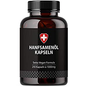 Hemp Oil in Soft Gel Capsules, high dose with 1000...