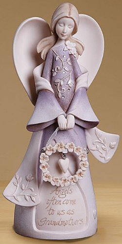 Enesco Foundations Grandmother Angel Stone Resin Figurine, 7.5