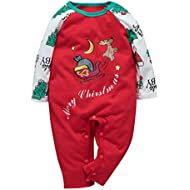 Hmlai Clearance Toddler Baby Boys Girls Christmas Jumpsuit Xmas Deer Printed Long Sleeve Romper One-Piece Bodysuit Clothes