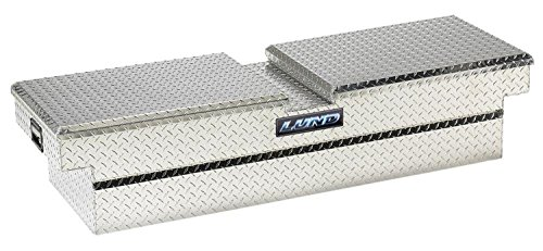 Lund 111051 70-Inch Economy Line Aluminum Gull Wig Cross Bed Truck Tool Box, Diamond Plated, Silver